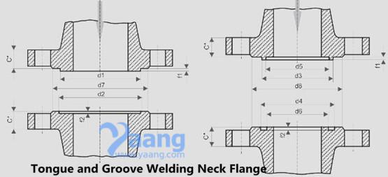 """2019431987394214 - ASME B16.5 ASTM B564 Hastelloy C276 Welding Neck Flange T&G 1-1/4"""" SCH160 2500#"""