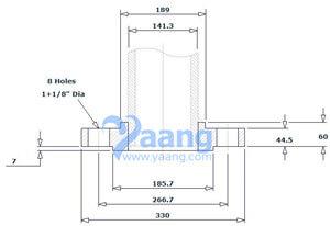 """20200114052206 53017 - ASME B16.5 ASTM A182 UNS 32750 SO RF Flange 5"""" 600#"""
