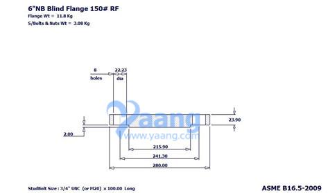 201888204561529376 - ASME B16.5 A182 Grade 321 Blind Flange RF 6 Inch CL150