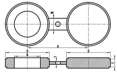 20200222024511 80980 - ASME B16.48 A182 F316 Spectacle Blind Flange Raised Face 10 Inch 300#