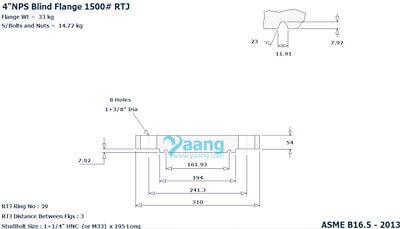 "20200830021243 86716 - ANSI B16.5 F316 Blind Flange RTJ 4"" Class1500"