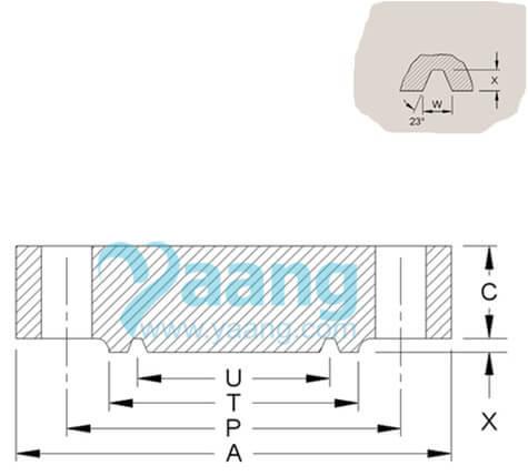 "20200830023656 24563 - ANSI B16.5 F316 Blind Flange RTJ 4"" Class1500"